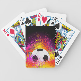 Neon Soccer Ball Playing Cards
