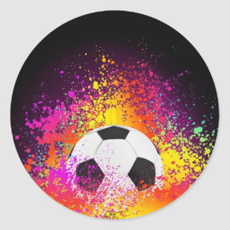 Neon Soccer Ball Stickers