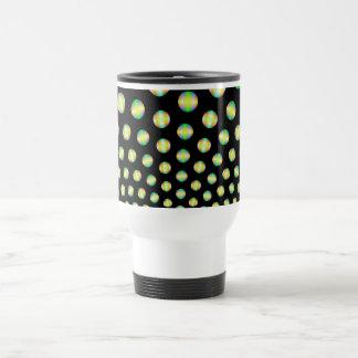 Neon Spheres on Black Mug