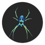 Neon Spider Classic Round Sticker