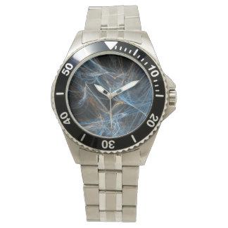 Neon Spiderweb Mens Stainless Watches