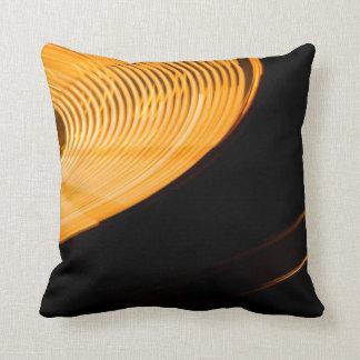 Neon Spin Throw Pillow
