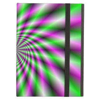 Neon Spinning Wheel iPad Air Cover