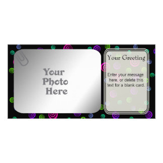 Neon Spiral Dots PhotoCard Template