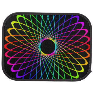 Neon Spiro Abstract Car Floor Mat