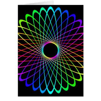 Neon Spiro Abstract Card