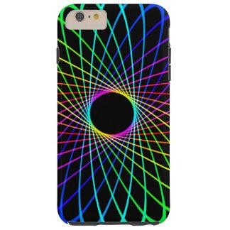 Neon Spiro Abstract Tough iPhone 6 Plus Case
