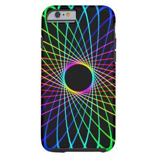 Neon Spiro Abstract Tough iPhone 6 Case