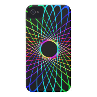 Neon Spiro Abstract Case-Mate iPhone 4 Case