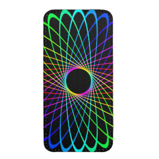 Neon Spiro Abstract iPhone SE/5/5s/5c Pouch