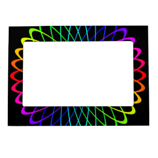 Neon Spiro Abstract Magnetic Picture Frame