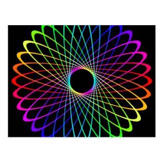 Neon Spiro Abstract Postcard