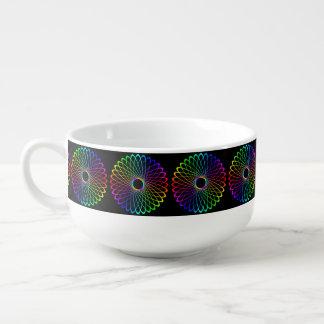 Neon Spiro Abstract Soup Mug