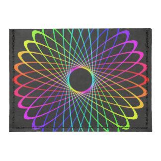 Neon Spiro Abstract Tyvek® Card Wallet