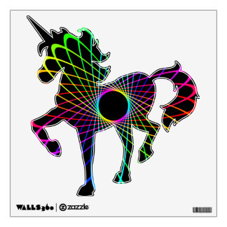 Neon Spiro Abstract Wall Decal