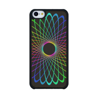 Neon Spiro Abstract Carved® Maple iPhone 5C Case
