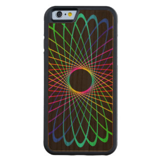 Neon Spiro Abstract Carved® Cherry iPhone 6 Bumper Case