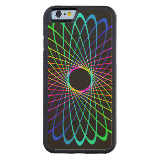 Neon Spiro Abstract Carved® Maple iPhone 6 Bumper