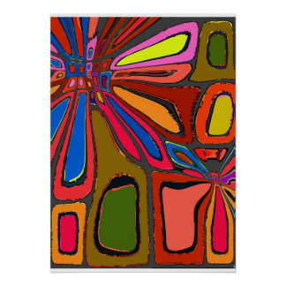 Neon Splash Abstract Poster