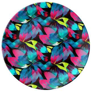 Neon Splash in Paradise Porcelain Plates
