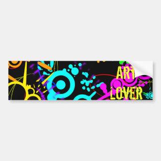 Neon splatter colored Art lover Bumper Sticker Car Bumper Sticker