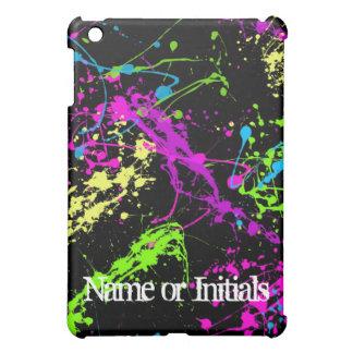 Neon Splatters iPad Mini Cover