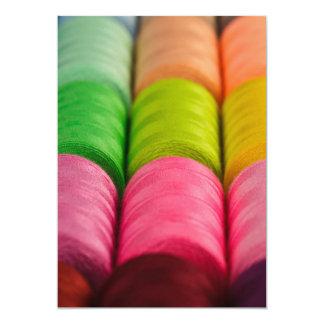 Neon Spools of Thread Card
