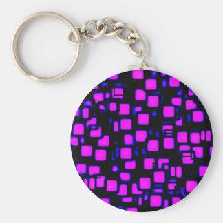 neon, squares 1920x1080 Altered Basic Round Button Keychain