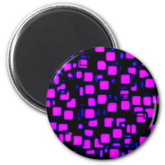 neon, squares 1920x1080 Altered 2 Inch Round Magnet