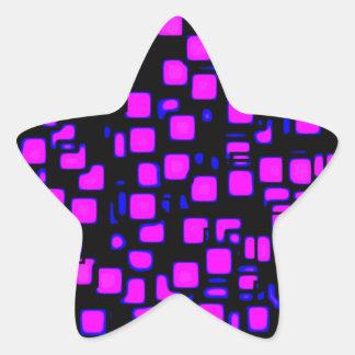 neon, squares 1920x1080 Altered Star Sticker