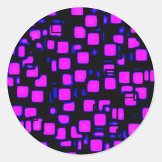 neon, squares 1920x1080 Altered Classic Round Sticker