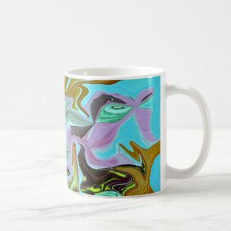 Neon Squiggles Abstract Art Coffee Mug