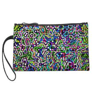 Neon squiggles design- Black background- Bag