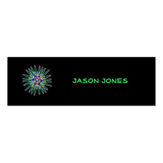 Neon Star Flower Profile Card Mini Business Card