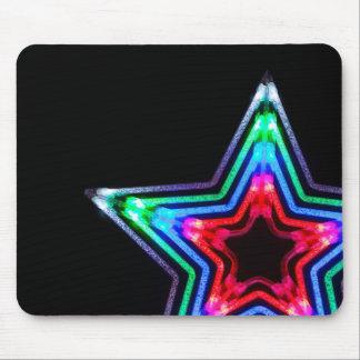 Neon Star Light Mousepad