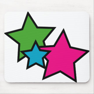 Neon Star Mouse Pad