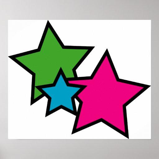 Neon Star Poster