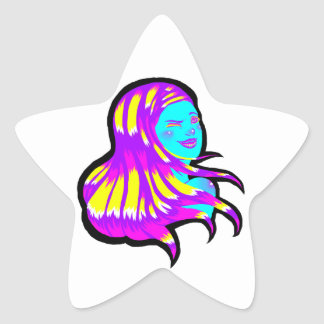 Neon Star Star Sticker