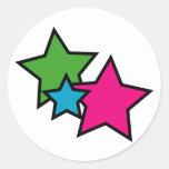 Neon star stickers