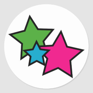Neon star stickers
