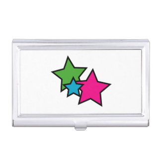 Neon Stars Business Card Cases