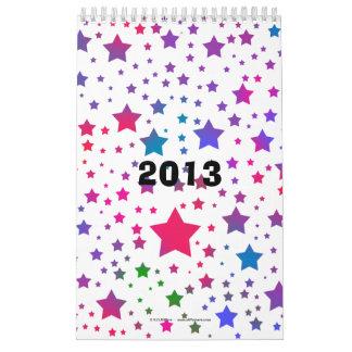Neon Stars Calendar