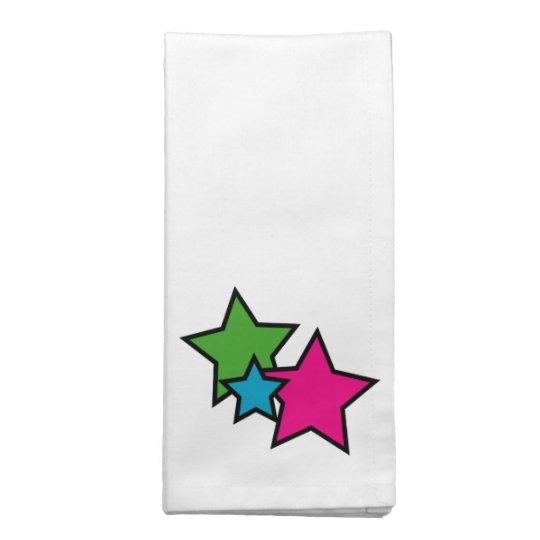 Neon Stars Cloth Napkin