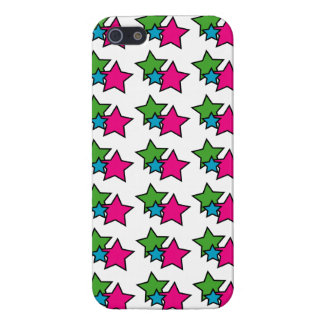Neon Stars Cover For iPhone 5