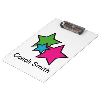 Neon Stars Customizable Clipboard