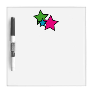 Neon Stars Dry-Erase Whiteboard