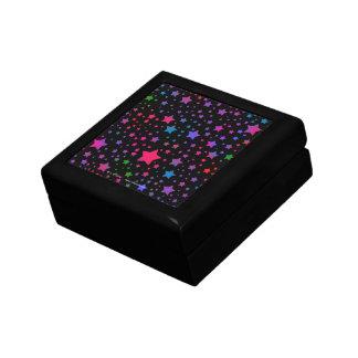 Neon Stars Keepsake Box