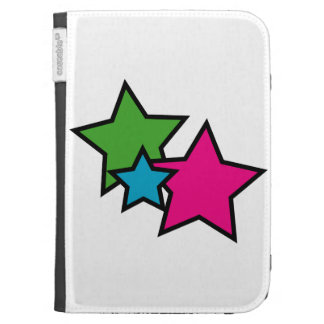 Neon Stars Kindle Cover