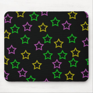 Neon Stars Mouse Pad