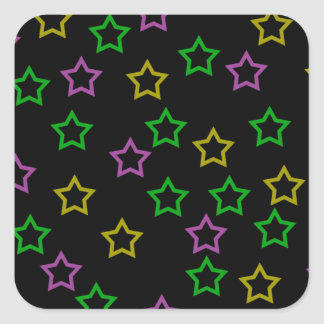 Neon Stars Square Sticker